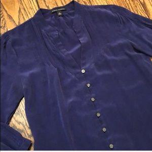 Beautiful deep purple 100% Silk blouse
